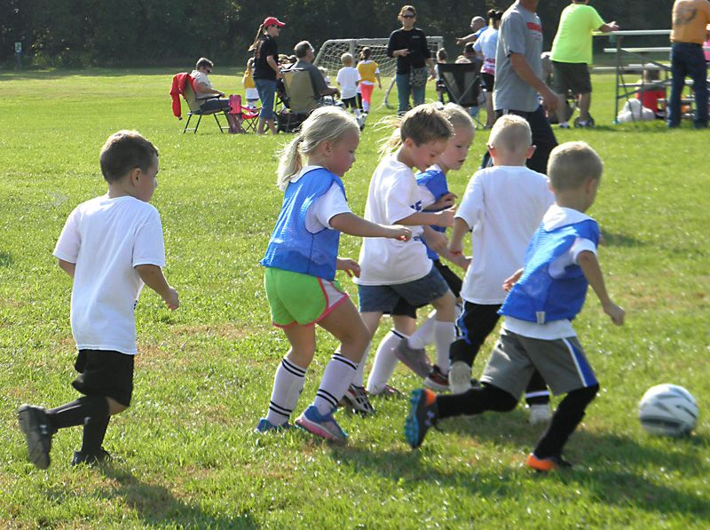 children playing soccer at the Plum Creek Sports Complex